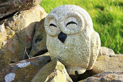 GARDEN - ENB, the Rose Cottage owl