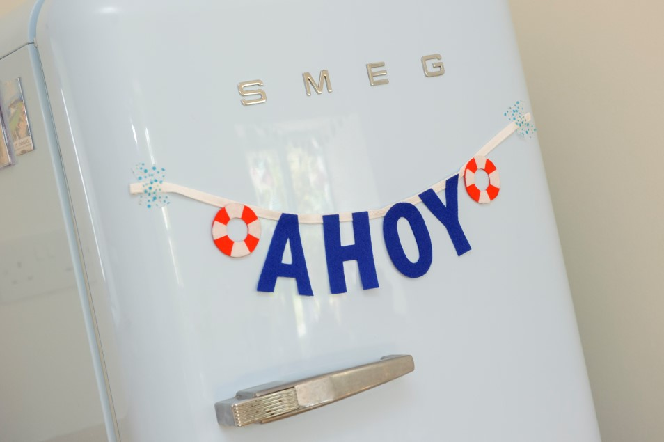 Roomy SMEG fridge & charming touches