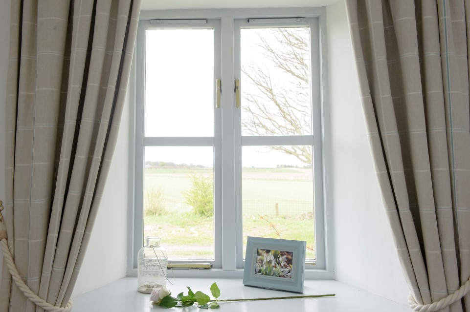 Window with sea views, Rose Bedroom