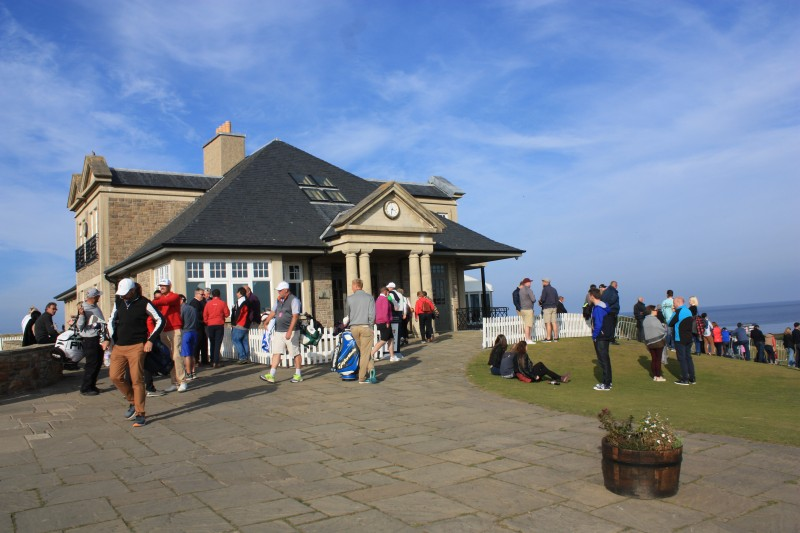 Kingsbarns clubhouse at the Dunhill 2015